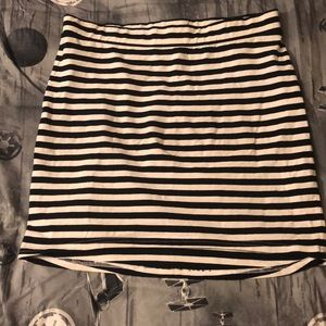 DIVIDED BY H&M STRIPEY MICRO MINI SKIRT